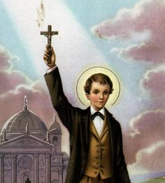 Saint Dominic Savio (April 2, 1842 – March 9, 1857) was an Italian adolescent student of Saint John Bosco. He was studying to be a priest when he became ill and died at the age of 14, possibly from pleurisy. Patron of choirboys, falsely accused people, juvenile delinquents. Feast Day: 9 May.
