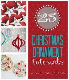25 Christmas Ornament Tutorials