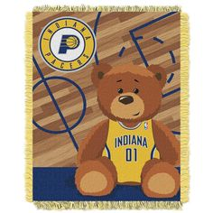 Indiana Pacers Baby Jacquard Throw, Multicolor