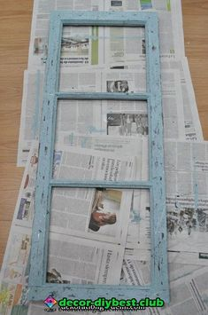 Pin on cajas vintage Old Window Projects, Wood Projects, Family Wall Decor, Shabby Chic Wall Decor, Vintage Windows, Antique Windows, Frame Crafts, Paint Furniture, Decoration
