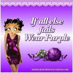 Purple is perfect.
