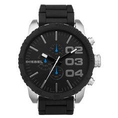 Diesel DZ4255 Men's Advanced Black Dial Rubber & Stainless Steel Bracelet Chronograph Watch