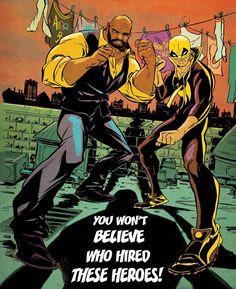 Power Man and Iron Fist Vol. Civil War II - Comics by comiXology Marvel Comics Art, Marvel Heroes, Marvel Movies, Captain Marvel, Marvel Marvel, Luke Cage, Best Comic Books, Comic Books Art, Comic Art