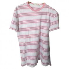 Pink Cotton Top MARC JACOBS ($19) ❤ liked on Polyvore featuring tops, t-shirts, shirts, shirt tops, pink top, pink tee, t shirt and woven cotton shirt