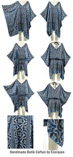 Womens Oversized Batik Tunic Tops Plus Size Tops 1x-3x Handmade Tunic Tops