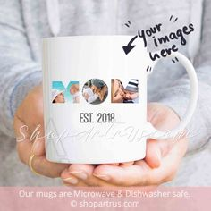 Personalized New Mom Parent Christmas Gift Photo Birthday For Her Established 2018 Baby Shower MU456