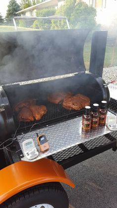 Matt is a Claude's fan and built this smoker! Brisket Marinade, Bbq Brisket, Best Smoker, Bloody Mary Mix, Pizza Oven Outdoor, Homemade Bbq, Best Bbq, Kitchen Images, Commercial Kitchen