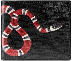 746af3cbad68 Gucci Kingsnake print leather wallet Gucci Brand, Gucci Gucci, Fendi, Gucci  Wallet,