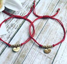 Items similar to Best friends bracelet set. Set of 2 bracelet. Thread bracelet on Etsy Friend Bracelets, Wish Bracelets, Beaded Bracelets, Promise Bracelet, Bracelet Set, Handmade Jewelry, Unique Jewelry, Handmade Gifts, Sliding Knot
