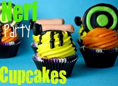 Nerf Party Cupcakes