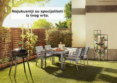 FALSTER stol izgledom podsjeća na puno drvo, ali izrađen je od nehrđajućeg aluminija i plastike što ga čini otpornim na sve vremenske uvjete i jednostavnim za održavanje. Oko njega možeš okupiti svoje najdraže kako biste svi probali plodove iz vrta. www.IKEA.hr/FALSTER_stol