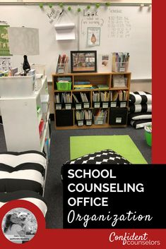 10 Tips for School Counseling Office Organization. School counseling office organization can be challenging. Stick to 10 simple steps for organized school counseling office inspiration. Diy Organisation, School Counselor Organization, School Counselor Office, Counseling Office Decor, School Guidance Counselor, Middle School Counseling, Elementary School Counselor, College Counseling, Student Office