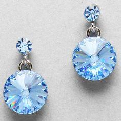 Crystal Stephanie Earrings in Water Blue