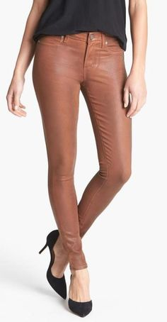 Need these! Paige Wax Coated Ultra Skinny Jeans