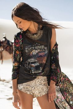 Spell Easy Rider Shirt. Love the vintage floral/grunge look.