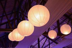 Papierlampions Hochzeitsdeko