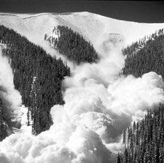 Avalanche usually forms when changes in the surface of the snow occur. when the snow just shifts even do slightly it will start a chain reaction and the snow will slide down to the mountain's side.