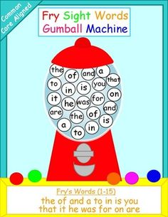 Free. A fun way for students to practice reading sight words. Great activity for independent work or literacy centers. You can even use the gumball machine mats as play dough mats.