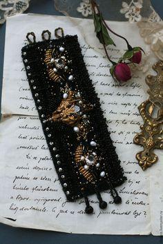 """Купить Браслет """"Ночное небо"""" - черный, браслет, украшение, украшения ручной работы, браслет с жемчугом Tambour Embroidery, Hand Accessories, Jewelry Art, Jewellery, Ornaments, Beads, Diy, Handmade, Bracelet"""