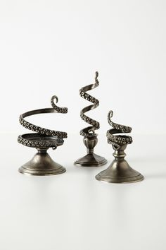 Tentilla Coil Candle Holder - Anthropologie.com- Anthropologie? When did Cthulhu get cool?
