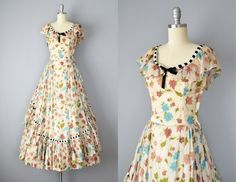 Hey, I found this really awesome Etsy listing at https://www.etsy.com/listing/221623875/30s-dress-1930s-floral-silk-organdy-gown