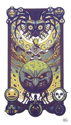"""""""Majora Defied"""" by *WesTalbott Legend of Zelda fans would appreciate this work…. """"Majora Defied"""" by *WesTalbott Legend of Zelda fans would appreciate this work. The Legend Of Zelda, Video Game Art, Video Games, Majora Mask, Marshmello Wallpapers, Image Zelda, Zelda Tattoo, Link Zelda, Fan Art"""