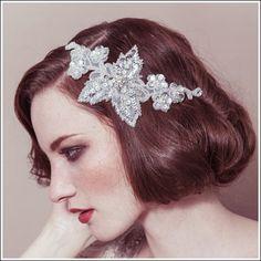 Ivy. Bridal accessories. Bridal hair wear. Vintage inspired bridal hair piece.