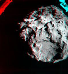 3D 67P  Image Credit: ESA/Rosetta/Philae/ROLIS
