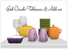 Sims 4 CC's - The Best: Orinoko Dishes plus Add-Ons by 13Pumpkin31