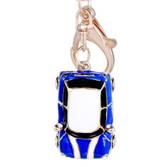 Novelty Items Fashion Trinket Rhinestone Vintage Car styling Keychain Alloy Keyring Charm Women Handbag Bag Key Holder Gift R012