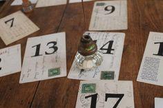 vintage doorknob table number holders