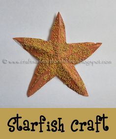 Starfish Craft & Printable Template ... decorated with star-shaped pastina!