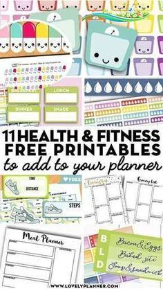 13 Free Printable Health and Fitness Planner Stickers and Inserts to Help You Reach Your Goals - Lovely Planner More than 10 FREE printable health and fitness planner stickers and planner inserts to help you reach your fitness goals: lose weight, meal plan, work out. #fitness #diet #mealplan #healthy #planner #freeprintable #plannerstickers #lovelyplanner<br> More than 10 FREE printable health and fitness planner stickers and planner inserts to help you reach your fitness goals: lose weight…