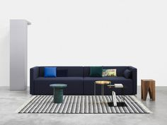 """Kerman"" by Philipp Mainzer and Farah Ebrahimi for sofa that fits any interior and yet has a clear character of its own. Sofa Furniture, Furniture Sets, Furniture Design, Funky Furniture, Sofa Design, Interior Design, Milan Design, Rectangular Rugs, Designer"