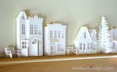 Ashbee Design Silhouette Projects: Ledge Village Fire House Silhouette Tutorial