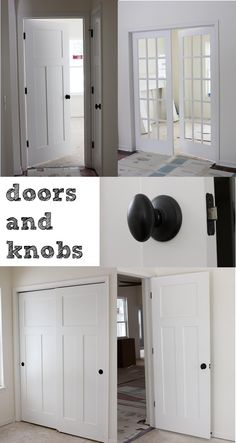 3 panel doors and oil rubbed bronze doorknobs (lot 23: day 128)