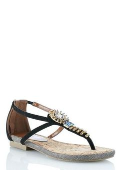 d5aba081a Cato Fashions T Strap Beaded Sandals  CatoFashions  catosummerstyle Shoes  For Less