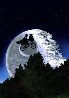 darth and yoda ET death star