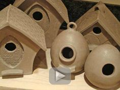 pottery projects - bird house