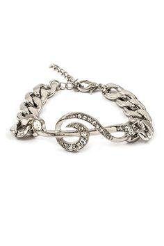 Crystal Music Charm Bracelet