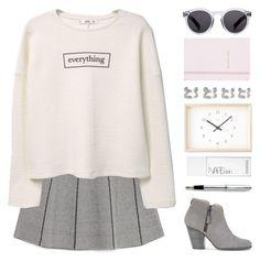 """What's on your mind?"" by hevsyblue2 ❤ liked on Polyvore featuring Zara, MANGO, rag & bone, Kate Spade, Lemnos, NARS Cosmetics, Illesteva, Maison Margiela and Cross"