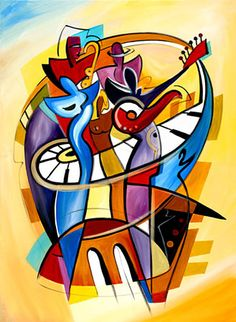 I would love to paint like Alfred Gockel. I love his bright abstract look. Alfred Gockel, Dyi Painting, West Art, Country Paintings, African American Art, Fine Art Gallery, Art Techniques, All Art, Find Art