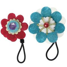 Make Your Own Feltcraft Red & Blue Hairbands  Get Crafty! have lots of fun making these Feltcraft Hairbands and then prettily wear them in your hair!