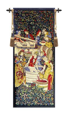 Vendage Portiere - Left Side Tapestry