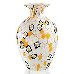 Millefiori daisy vase