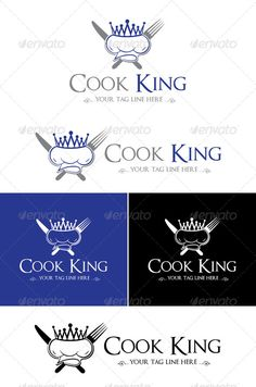 Cook King Logo Design — Photoshop PSD #cafe #king • Available here → https://graphicriver.net/item/cook-king-logo-design/5336959?ref=pxcr