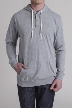 The Classic grey henley fleece. #essential #menswear Get 6% Cash Back http://www.studentrate.com/itp/get-itp-student-deals/Jackthreads-Discounts--amp--Coupons--/0