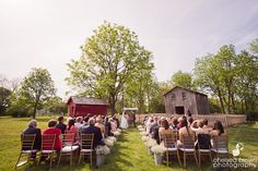 Outdoor Ceremony at Cobblestone Farms  Chelsea Brown Photography- http://chelseabrownphotography.com