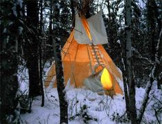 Winter Camp in a real Tepee!