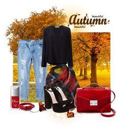 """Beautiful Autumn"" by a-ma on Polyvore featuring moda, Lumière, MANGO, Chloé, Black Rivet, Miu Miu, Loeffler Randall, Christian Dior e Ann Demeulemeester"